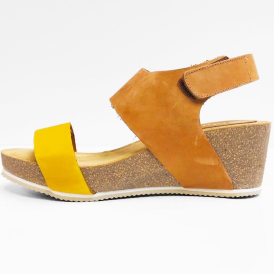 Abril sandalen light brown yellow