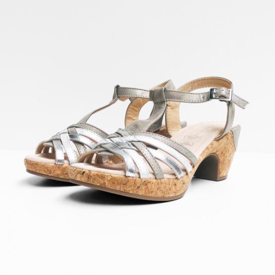 Agora zilverkleurige sandalen