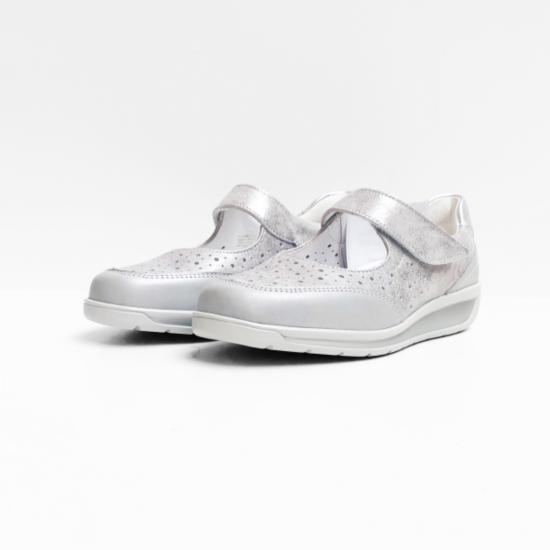 Ara sandalen zilverkleurig