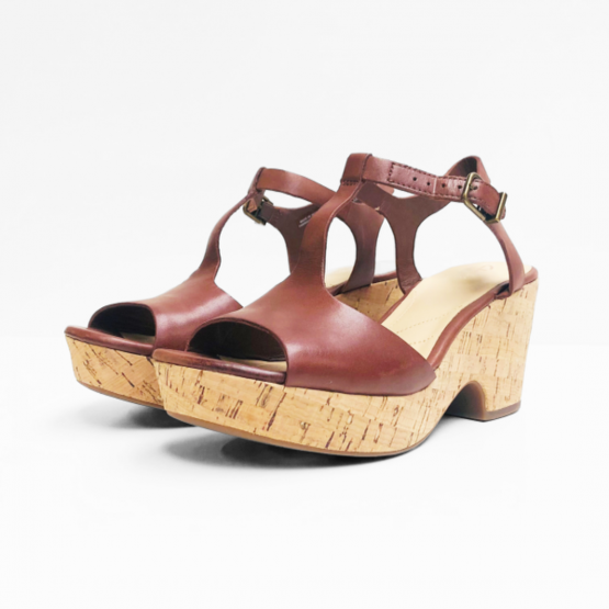 Unstructured by Clarks mahonie leer