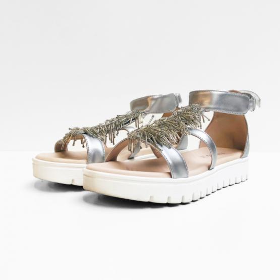 Florens sandalen wit zilver