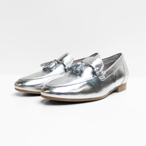 Gabor Loafers zilverkleurig