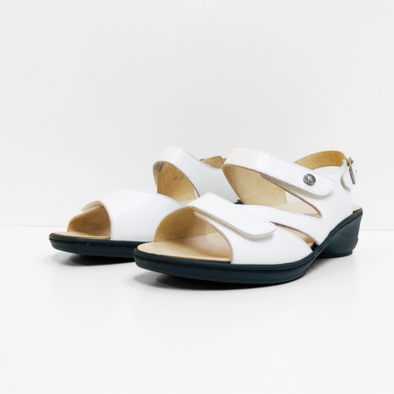Goldkrone Sandalen wit zwart