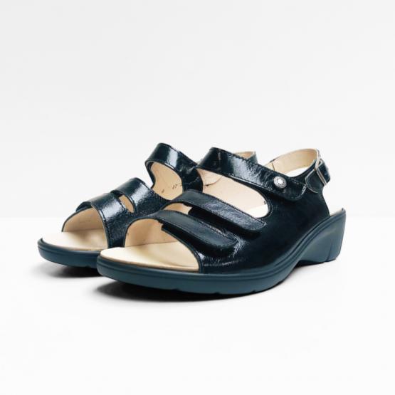 Goldkrone Sandalen zwart