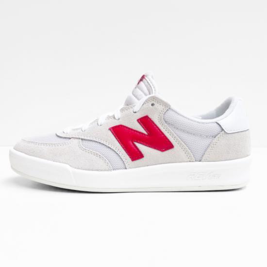 new balance  sneaker white red
