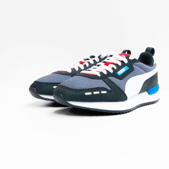 Puma R78 sneaker castlerock white black