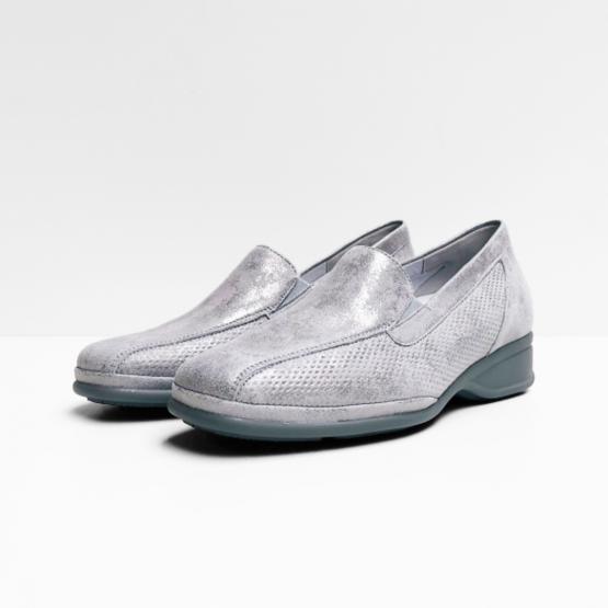 Semler Loafers metallic velour