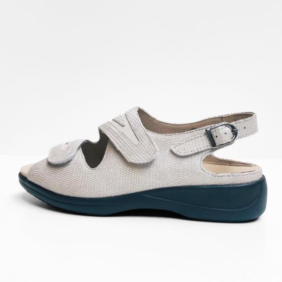 Solidus sandalen reptiel grijs