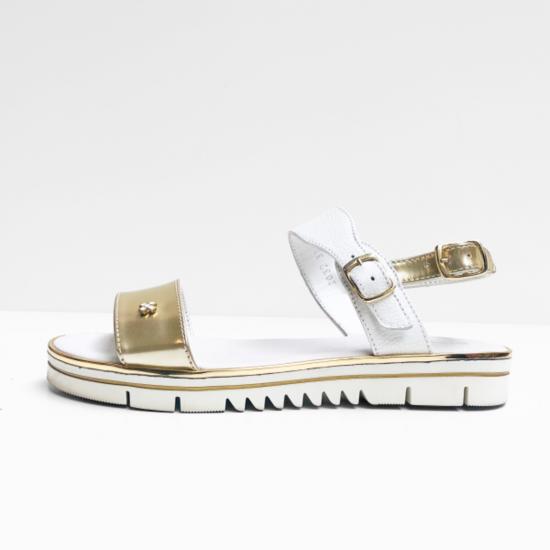 Terre Bleue sandalen wit zilver
