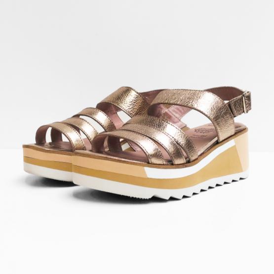 Wonders sandalen goudkleurig