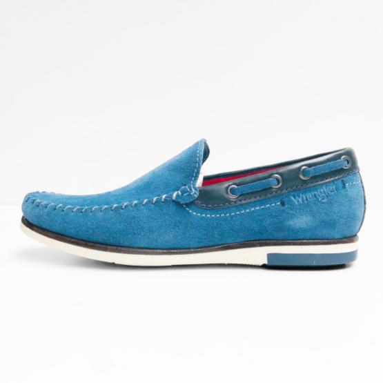 wrangler mocassins light blue
