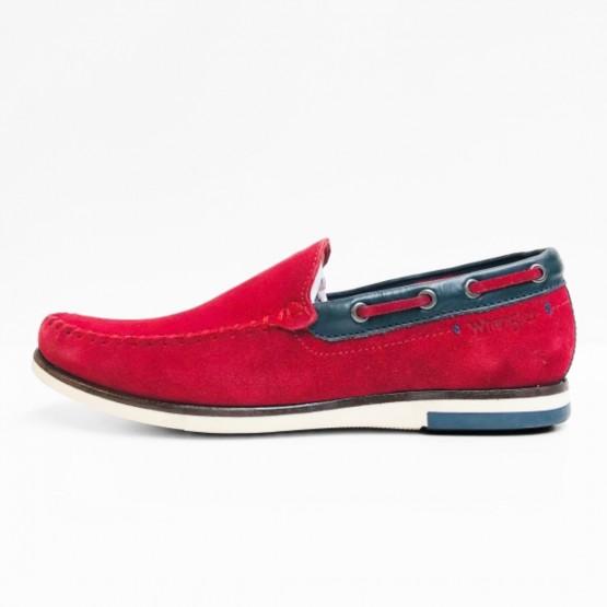 wrangler mocassins red scarlet