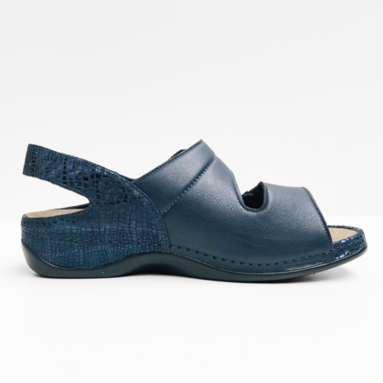berkemann sandalen dark  blue  shine