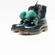 Kipling boots green puff ball