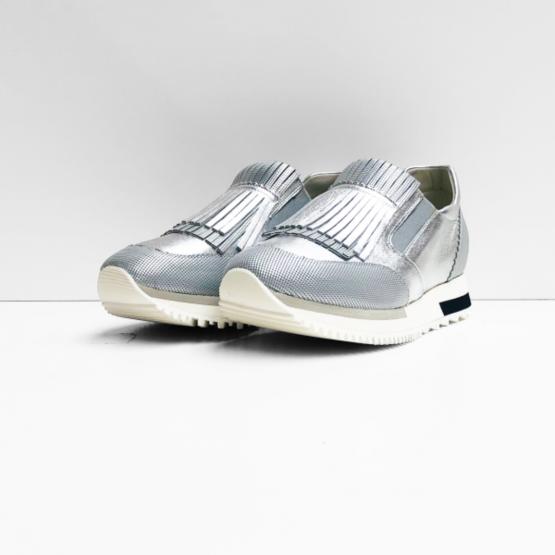 Shïs sneakers zilver pixels