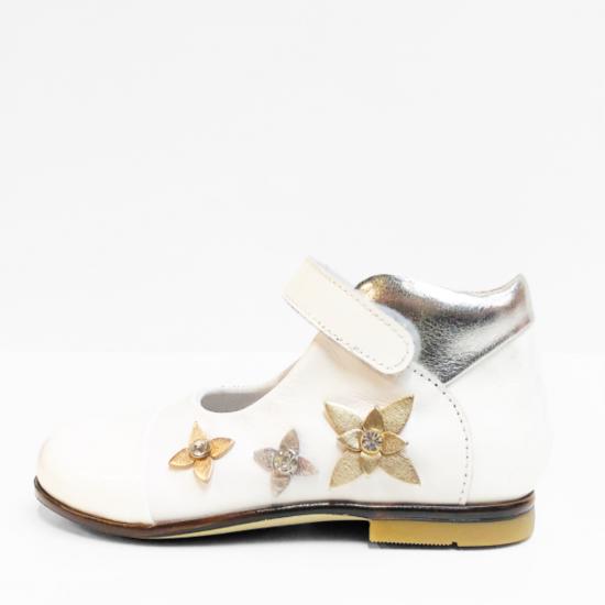 Chérie sandalen white silver